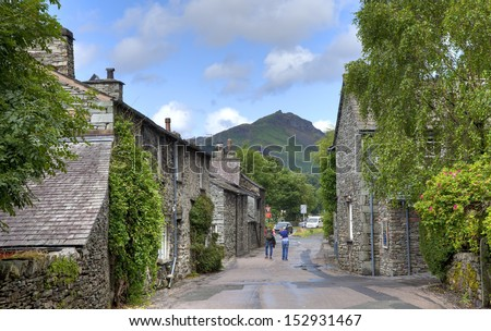 K Village Lake District Grasmere village, the Lake District, Cumbria, England - stock photo