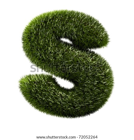 grass alphabet - S - stock photo