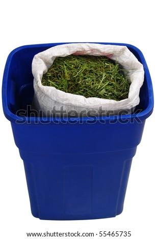 Grass compost. - stock photo