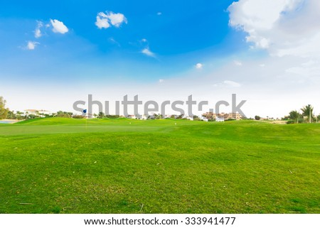 Grass Fields Of Green  - stock photo