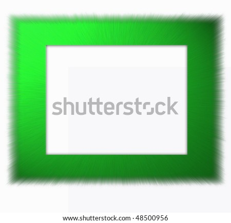 grass frame - stock photo