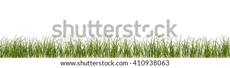 Grass framing background - stock photo