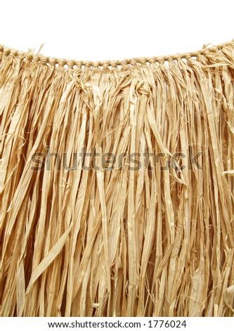 grass hula skirt for a Hawaiian luau - stock photo
