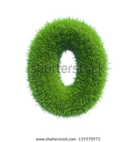 grass number 0 isolated on a white background - stock photo