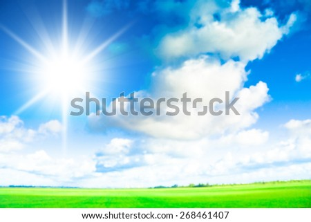 Grass Outdoor Rural Landscape  - stock photo
