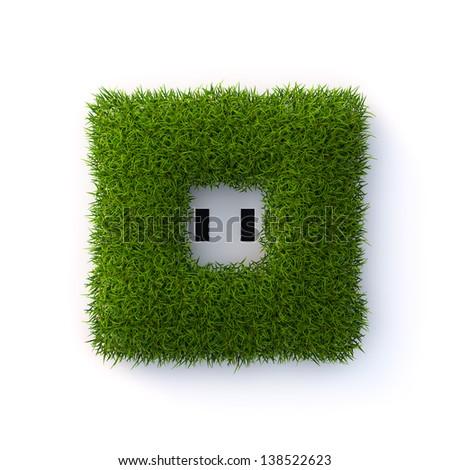 Grass socket - stock photo