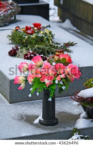 Grave decoration - stock photo