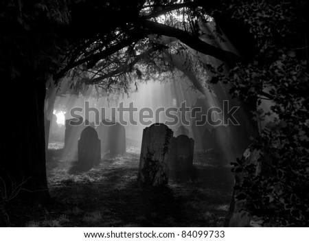Grave Rays - stock photo