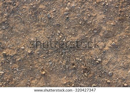 Gravel background closeup - stock photo