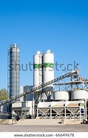 Gravel factory machinery - stock photo