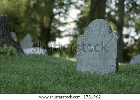 gravestone - stock photo
