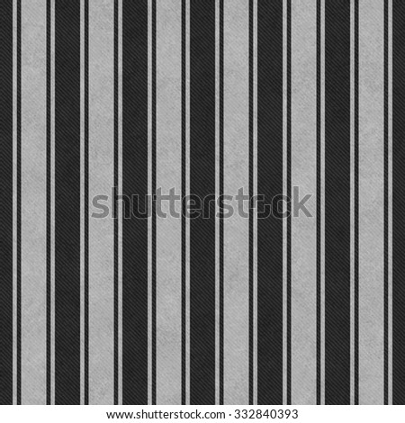Gray and Black Striped Tile Pattern Repeat Background that is seamless and repeats - stock photo