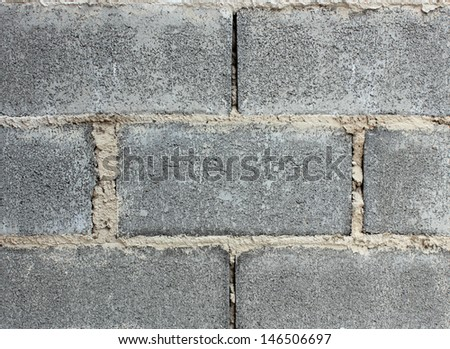 Gray background of concrete blocks - stock photo