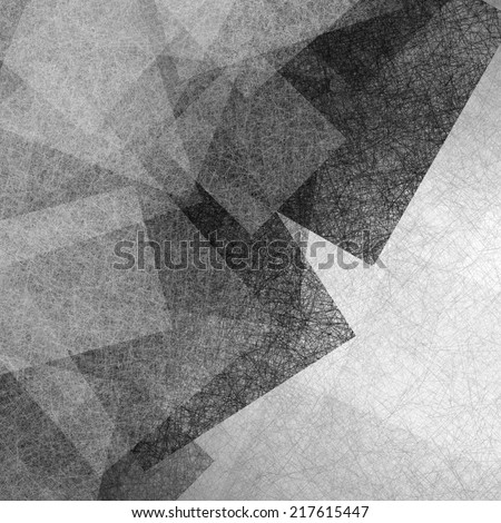 gray black background of blocks squares and rectangles layered in abstract background pattern on white, detailed line or canvas brush strokes texture - stock photo