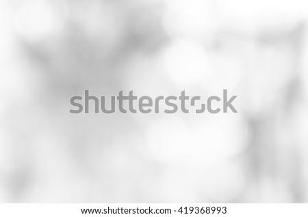 Gray bokeh out of focus background from nature forest - stock photo