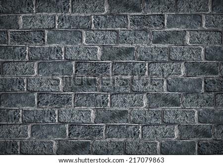 Gray brick wall background - stock photo