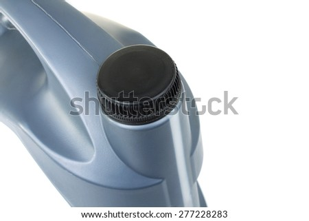gray canister of gasoline in isolation - stock photo