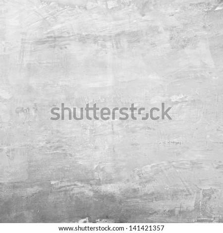 Gray concrete wall background - stock photo