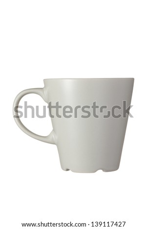 Gray cup isolated on white background - stock photo