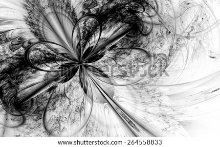 gray fantasy artistic flower with lighting effect. Beautiful shiny futuristic background for wallpaper, interior, album, flyer cover, poster, booklet. Fractal artwork for creative design. - stock photo
