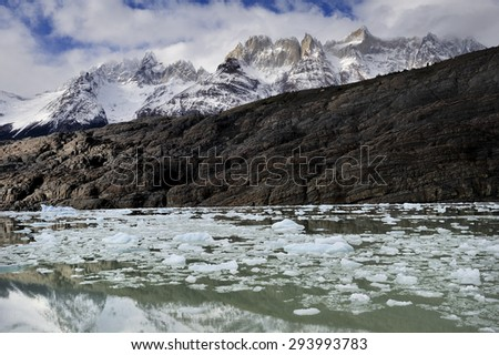 Gray Glacier at, Torres del Paine National Park, Patagonia, Chile