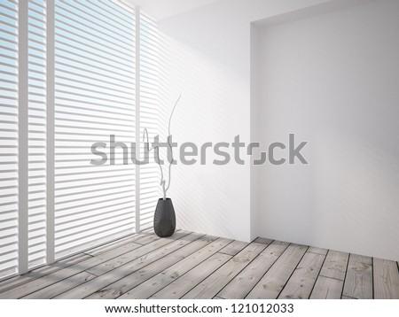 gray interior - stock photo