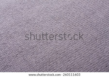 Gray knitted wool texture - stock photo