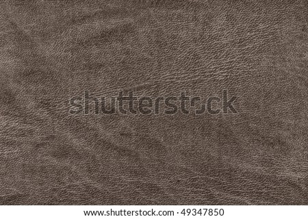 Gray leather surface - stock photo