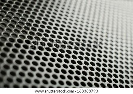 Gray metal speaker mesh - stock photo