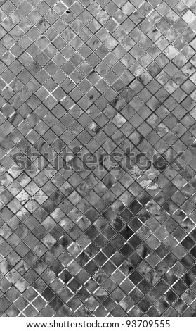 gray mosaic for background - stock photo