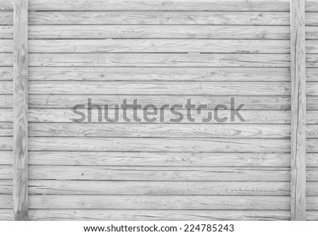GRAY OLD WOODEN FENCE - stock photo