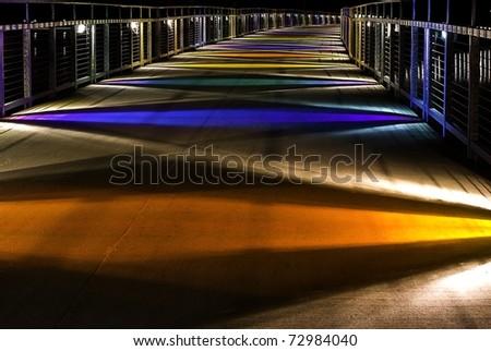 Gray's Lake Parks Colorful Bridge - stock photo