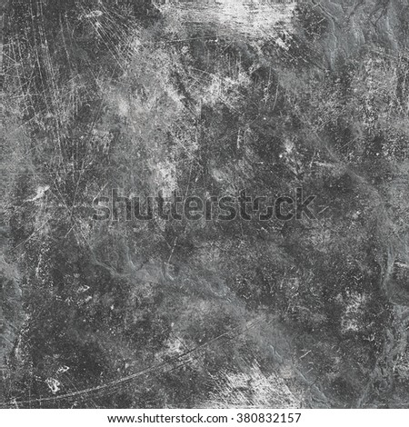 Gray seamless cracked stone wall background - stock photo