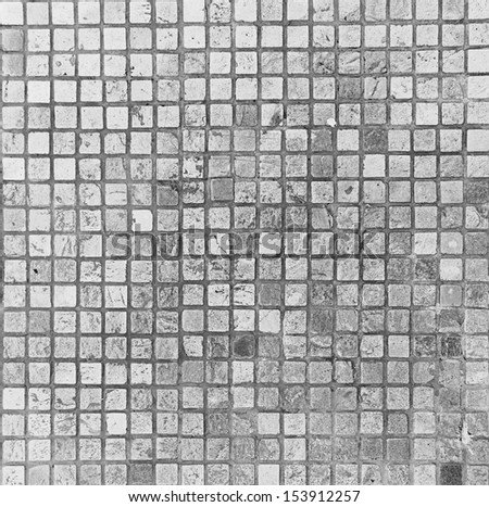 gray squared pavement texture - stock photo