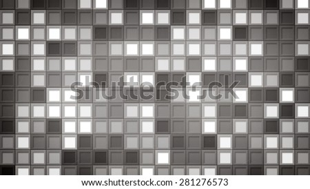 gray squares. computer generated abstract background - stock photo