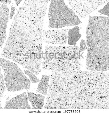 gray stone mosaic texture - stock photo