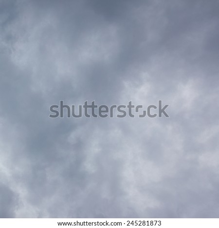 Gray storm sky, may be used as background - stock photo