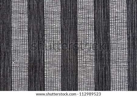 gray striped fabric as background - stock photo