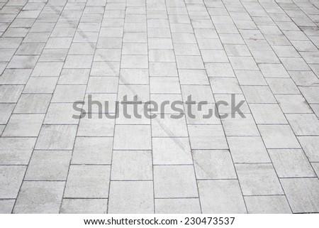 Gray tiles outdoor urban land, construction - stock photo