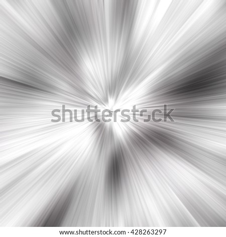 Gray White Abstract Zoom Motion background - stock photo
