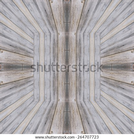 Gray wooden box background or sepia planks texture - stock photo