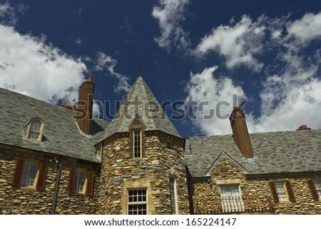 Graylyn Estate in Winston-Salem, NC - stock photo