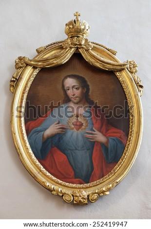 GRAZ, AUSTRIA - JANUARY 10, 2015: Sacred Heart of Jesus, Franciscan Church in Graz, Styria, Austria on January 10, 2015. - stock photo