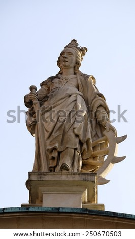 GRAZ, AUSTRIA - JANUARY 10, 2015: Saint Catherine of Alexandria, St. Catherines church and Mausoleum of Ferdinand II, Graz, Austria on January 10, 2015. - stock photo