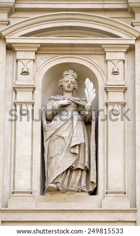 GRAZ, AUSTRIA - JANUARY 10, 2015: St. Catherines church and Mausoleum of Ferdinand II, Graz, Austria on January 10, 2015. - stock photo