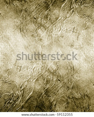 Great background made with a texture of a golden wall - stock photo
