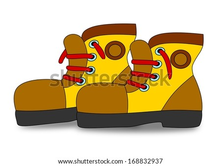 Great boots with red laces as an illustration - stock photo