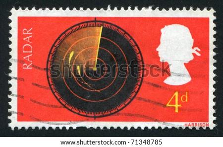 GREAT BRITAIN - CIRCA 1967: stamp printed by Great Britain, shows  Radar screen, circa 1967. - stock photo