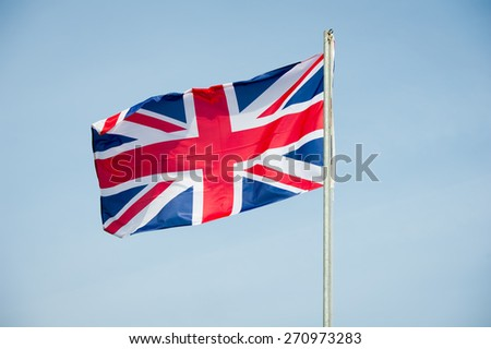 Great Britain Flag - British Flag - stock photo