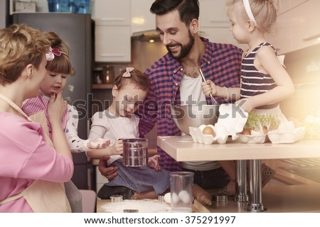 Great culinary preparation for Easter - stock photo